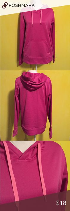 Under Armour hoodie Women's Under Armour hoodie, size large, pink/light pink colors, gently worn and in good condition with no flaws, super cozy and cute! Bundle to save an additional 10% off ❤ Under Armour Sweaters