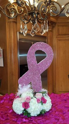 Pink Party Centerpiece!  Breast Cancer Awareness Month  www.alsflorist.com