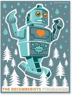 Decemberist Robot poster