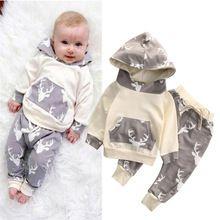 2016 autumn new arrival Christmas Deer sets baby boys clothing set children hoodies pants warm clothes boys girls sets Coat+Pant(China (Mainland))