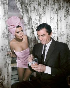 "Instagram: ""Sophia Loren and Gregory Peck in ARABESQUE (1966). ⭐️"""