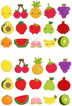 Cute Fruit Clipart Set clip art set of orange apple Source by Fruit Clipart, Food Clipart, Cute Fruit, Cute Food, Doodle, Scrapbooking Digital, Invitation, Cute Turtles, Shops