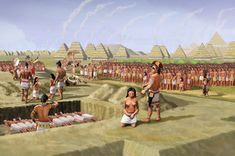 Mound 72 sacrifice ceremony HRoe 2013 - Cahokia - Wikipedia
