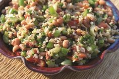 Black-Eyed Pea Salad Recipe + The China Study Cookbook Giveaway | Happy Herbivore http://happyherbivore.com/2013/06/black-eyed-pea-salad-china-study-cookbook-giveaway/