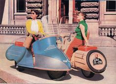 Why can't scooters look like this anymore? The Maico Mobil is an early touring motorcycle made by German manufacturer, Maico between 1950 and 1958.