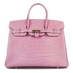 Hermes Birkin 35 centímetros - rosa adorável Crocodile Bag