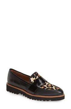 Free shipping and returns on Halogen® 'Emily' Loafer (Women) at Nordstrom.com. A bold band accent crosses the vamp of a menswear-inspired slip-on set on aplatform sole for a cool, retro finish.