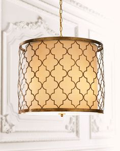 """Love the old hollywood glamour of this pendant.  """"Latticework"""" Chandelier by Regina-Andrew Design at Horchow."""