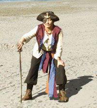 Augenklappe für einen Piraten nähen