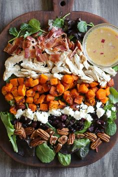 Food Photography :: Did you eat too much stuffing and pumpkin pie this Thanksgiving? Here's a wonderful way to use up any of that leftover turkey if you're looking for a meal that will be filling yet light. The dressing is a simple Maple Dijon Vinaigrette which is wonderful with all the Fall flavors in this salad. The […]