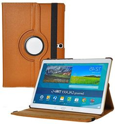 """myLife Caramel Brown {Modern Smooth Protective Design} 360 Degree Rotating Stand Case for Samsung Galaxy Tab S 10.5"""" Inch Tablet (High Quality Koskin Vegan Faux PU Leather Cover + Slim Folding Lightweight Design) myLife Brand Products http://www.amazon.com/dp/B00PYQJRBI/ref=cm_sw_r_pi_dp_d82Cub1Z90BSD"""