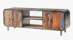 Paying homage to the curvilinear forms of classic retro furniture, the… Retro Furniture, Recycled Furniture, Industrial Furniture, Custom Furniture, Contemporary Furniture, Living Room Furniture, Furniture Design, Mirrored Furniture, Furniture Online