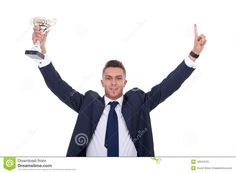 Business Man Holding A Trophy - Download From Over 43 Million High Quality Stock Photos, Images, Vectors. Sign up for FREE today. Image: 19347973