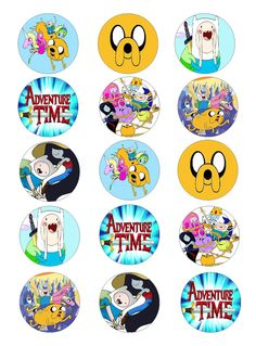 Adventure Time edible cupcake toppers                                                                                                                                                                                 More