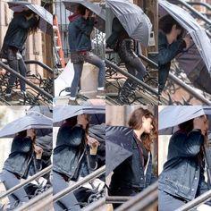 """Kristen on the set of """"Still Alice"""" on March 4, 2014 :)"""