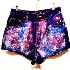 Fashion Galaxy High Waisted Shorts That No Girl Would Miss #galaxy #shorts www.loveitsomuch.com