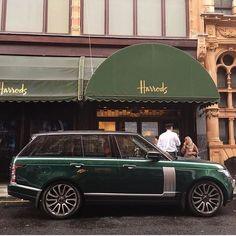 British racing green, Range Rover, Harrods - Classic