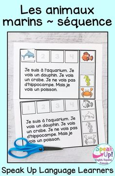 Students love a simple sequence activity about marine animal / les animaux marins en français. It is perfect to use in French class to learn about ocean creatures /  ocean life vocabulary. Teachers love a print and go + paperless sequencing activity for young learners. The paperless BOOM version includes audio. C'est parfait pour une classe d'immersion, primaire, fle où maternelle. Les enfants aiment la lecture et BOOM activities en français. #maternelle #frenchimmersion Sequencing Cards, Sequencing Activities, Student Reading, Student Work, Pete The Cat Author, World Language Classroom, French Classroom, Emergent Readers, Author Studies