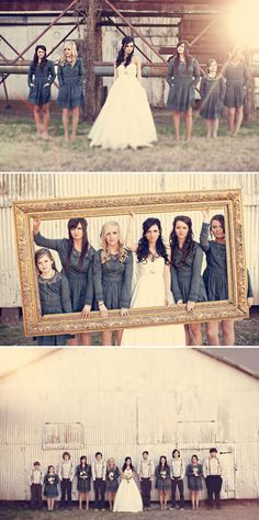 Love these photography ideas for a wedding party.