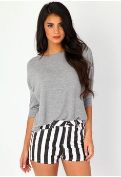Need these shorts! Winter Wardrobe, Plus Size Tops, Missguided, Casual Looks, Knitwear, Jumper, Topshop, Crop Tops, Lady