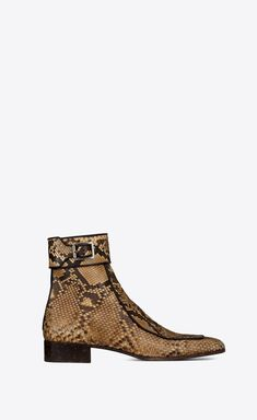Miles boot in python, Front view Shoe Boots, Ankle Boots, Saint Laurent Boots, Cropped Skinny Jeans, Chelsea Boots, Python, Heels, Collection, Shoes Men