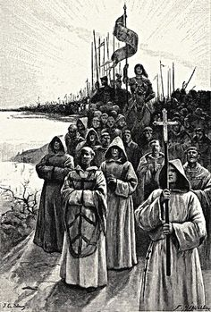 Joan of Arc Leading Her Army with Her Banner