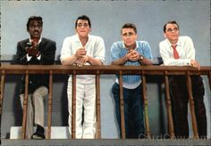Sammy Davis Jr., Dean Martin, Peter Lawford, Frank Sinatra (would be an awesome print to have framed)