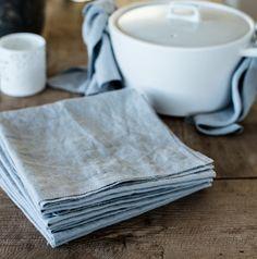 t & g - grey linen napkins