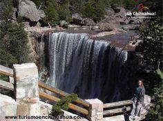 Dentro de los atractivos más visitados en el Estado de Chihuahua, son las barrancas y cascadas. Existen varias cascadas como la de Basaseachi considerada como la décimo segunda en altura en el mundo; Sin embargo, la cascada de Cusárare es reconocida como una de las más bonitas de nuestro país. Se forma a partir del arroyo del mismo nombre y tiene una caída permanente de 30 metros, rodeada de un bosque de pinos en la Sierra Tarahumara. Le invitamos a conocerla. www.turismoenchihuahua.com
