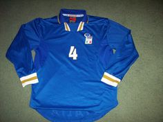 7193a888438 1996 1997 Italy Carboni #4 Player Issue L/s Football Shirt Large Italia  Maglia