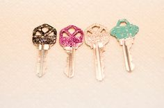 paint your keys with nail polish