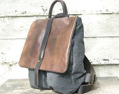 canvas backpack – Etsy