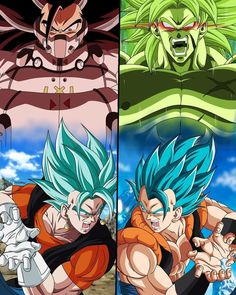 Saiyajines legendarios malignos vs la fusión de goku y vegeta. Goku E Vegeta, Goku Vs, Dragon Ball Z, Gogeta And Vegito, Best Anime Shows, Manga Dragon, Fanart, Anime Artwork, Drawings