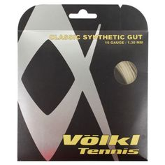 Volkl Classic Synthetic Gut 16G/1.30 Tennis String Natural by Volkl. $4.99