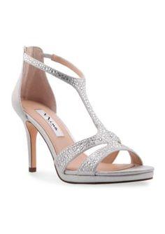 c5fc413b26e2 Nina Women s Brietta Sandal - True Silver Leather - 9.5M Silver Wedding  Shoes