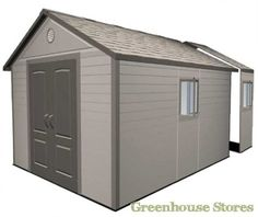 The Lifetime Heavy Duty Plastic Shed comes with an apex roof, it is manufactured with quality polyethylene and features a steep pitched roof for extra water drainage. Free UK delivery from Taylors Garden Storage Shed, Garden Sheds, Storage Sheds, Garden Oasis, Apex Roof, Plastic Sheds, Shed Floor, Shed Organization, Metal Shed