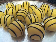 Hawkeye colored cake balls