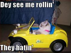 They see me rollin', they hatin'