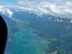 View before skydiving in Interlaken Switzerland. It was that best thing that I have ever done, highly recommend staying at Balmer's Hostel!