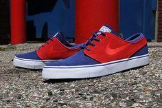 NIKE SB ZOOM STEFAN JANOSKI DEEP ROYAL BLUE/UNIVERSITY RED #sneaker