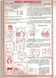 Explicación del molde del brasier.