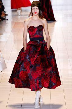 Rochas Spring 2013 Wool Print Blend Dress
