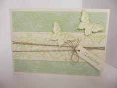 Vintage Einladungskarte in zartem Grün