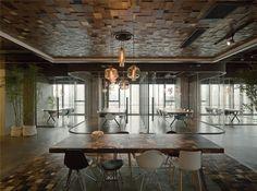LEO headquarters in Shanghai mosaic office decor