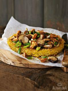 Kartoffeln, bisschen was Grünes und Pilze – mehr brauch's nicht zum Rösti-Glück | #Rösti-Liebe #hashbrowns #Pilze #mushrooms #Alnatura