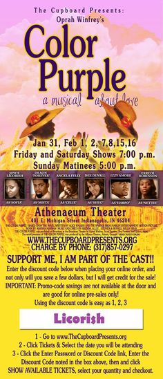 Color Stage Play coming this Spring tickets available now!!