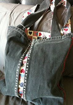 Recycled Denim Tote bag by xGreens on Etsy