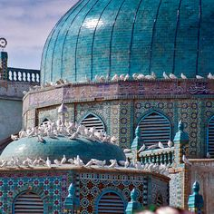 Blue Mosque in Mazar-e-Sharif, Afghanistan. Nice to meet you :)