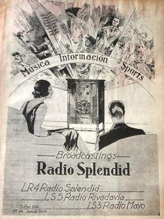 Publicidad de RADIO SPLENDID, RIVADAVIA y MAYO, Buenos Aires, 1933.