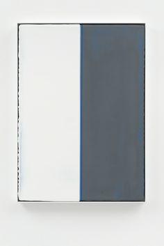 Carsten Nicolai - Unicolor substraktiv 236, 2014, Gesso pigment, acrylic, vinyl on linen, 27 3/5 × 19 7/10 in